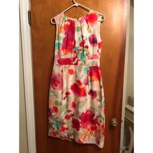 kate spade New York floral printed dress